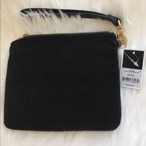 Juicy Couture Bags - Juicy Couture Black label Velour  Wristlet